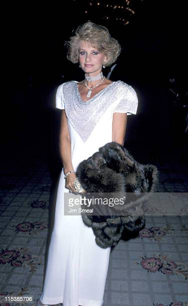 Jill Ireland during Cancer Research Dinner at Century Plaza Hotel in Century City California United States