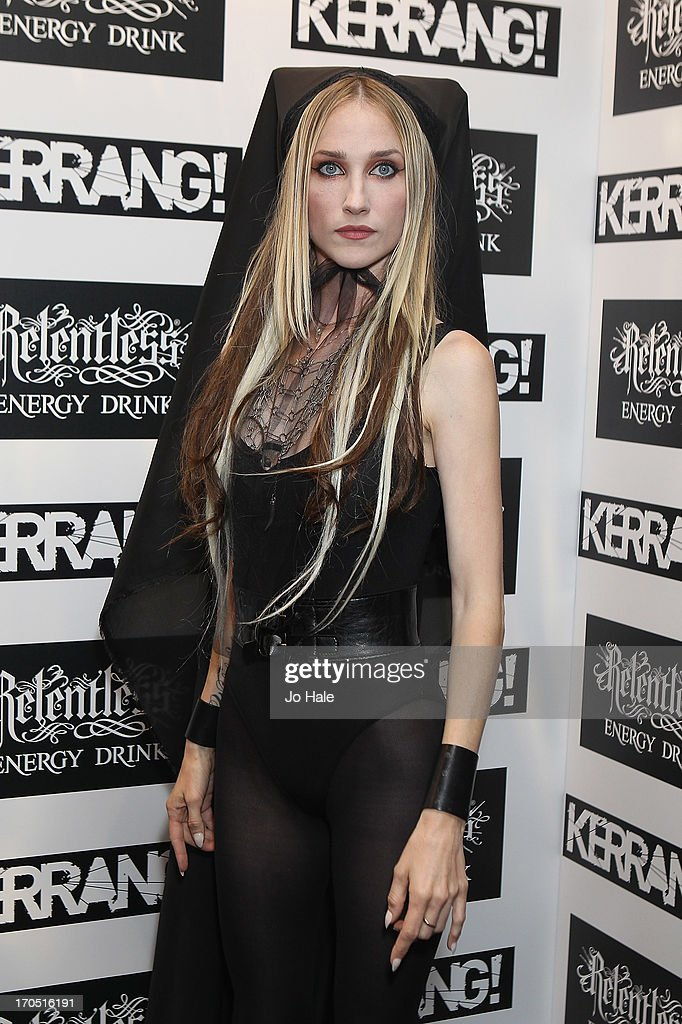 Jill Janus of Huntress attends The Kerrang! Awards at the Troxy on June 13, 2013 in London, England.