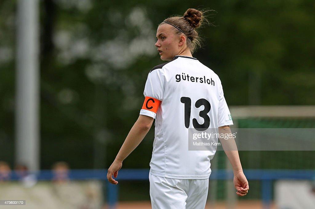 Jill Justine Eis of Guetersloh looks on during the U17 Girl's Bundesliga semi final first leg match between Turbine Potsdam and FSV Guetersloh 2009...