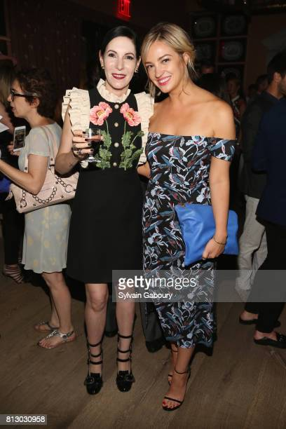 Jill Kargman and Abby Elliott attend The Cinema Society Kargo host the after party for the Season 3 Premiere of Bravo's 'Odd Mom Out' on July 11 2017...
