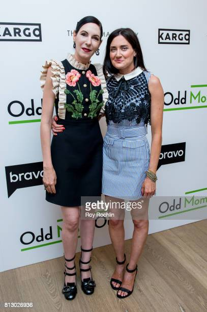 Jill Kargman and KK Glick attend The Cinema Society and Kargo host the season 3 Premiere Of Bravo's 'Odd Mom Out' at the Whitby Hotel on July 11 2017...