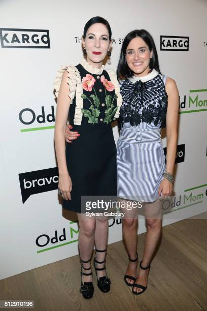 Jill Kargman and KK Glick attends The Cinema Society Kargo host the Season 3 Premiere of Bravo's 'Odd Mom Out' on July 11 2017 in New York City