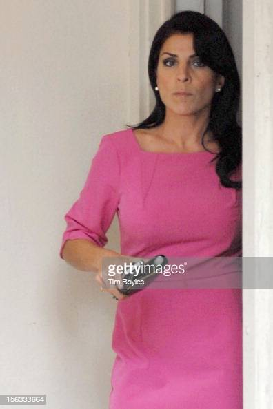 Jill Kelley leaves her home on November 13 2012 in Tampa Florida Kelley who is reported to be involved with the military community at MacDill Air...
