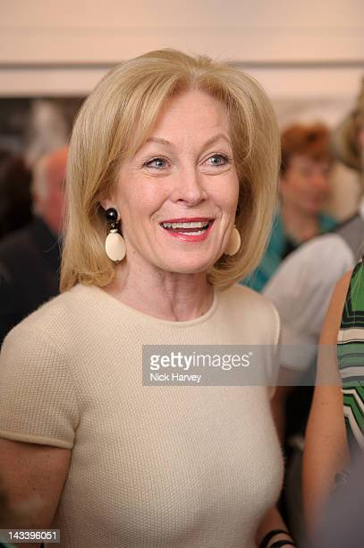 Jill Kennington attends the private view of Patrick Lichfield's Nudes exhibition at The Little Black Gallery on April 25 2012 in London England