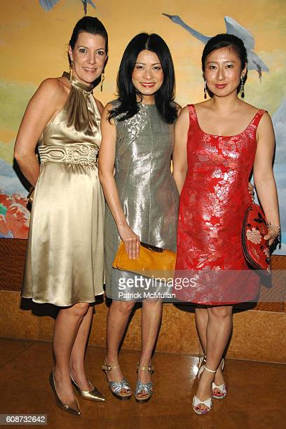 Jill Kluge Vivienne Tam and Xiaoming Zhang attend MANDARIN ORIENTAL HOTEL GROUP Party for the SOTHEBY'S Contemporary Asian Art Exhibition at The...