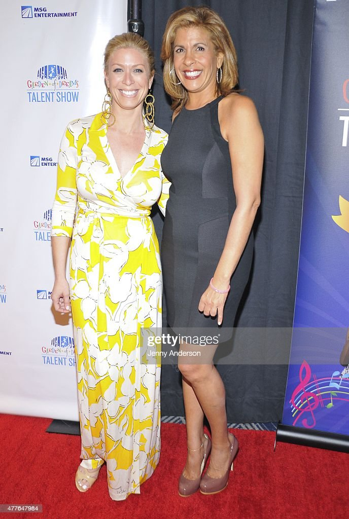 Jill Martin and Hoda Kotb attend Garden of Dreams Foundation Children Talent Show at Radio City Music Hall on June 18 2015 in New York City