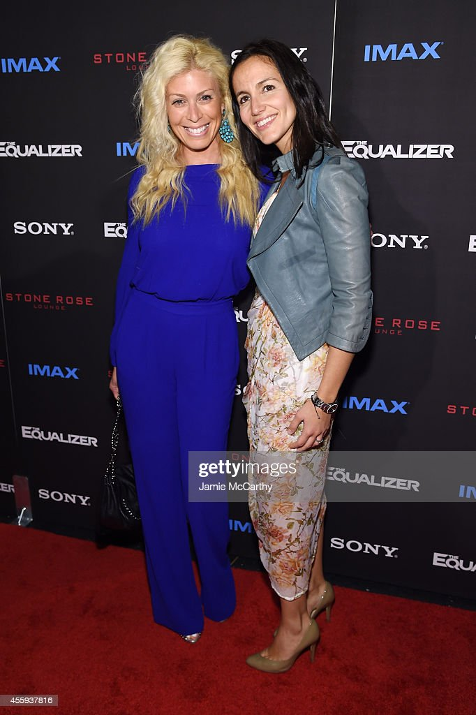 Jill Martin and Lindsey Cooper attend the 'The Equalizer' New York premiere at AMC Lincoln Square Theater on September 22 2014 in New York City
