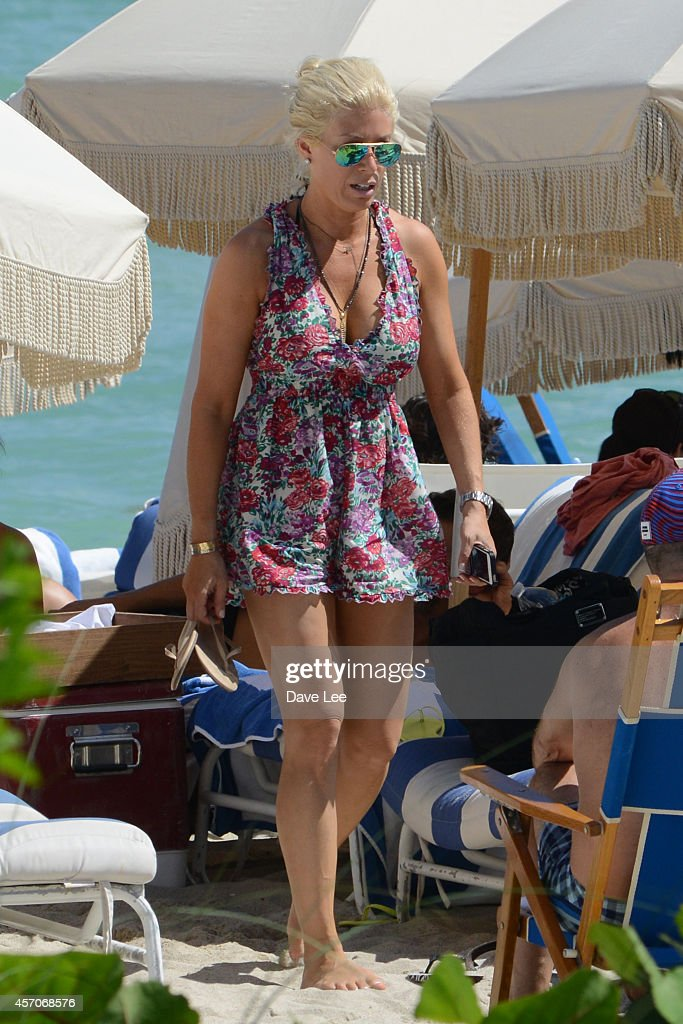 Jill Martin is sighted on the beach in Miami Beach on October 11 2014 in Miami Florida
