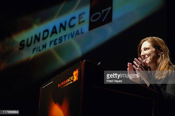 Jill Miller during 2007 Sundance Film Festival Salt Lake City Gala 'Away From Her' Press Conference at Rose Wagner Performing Arts Center in Salt...