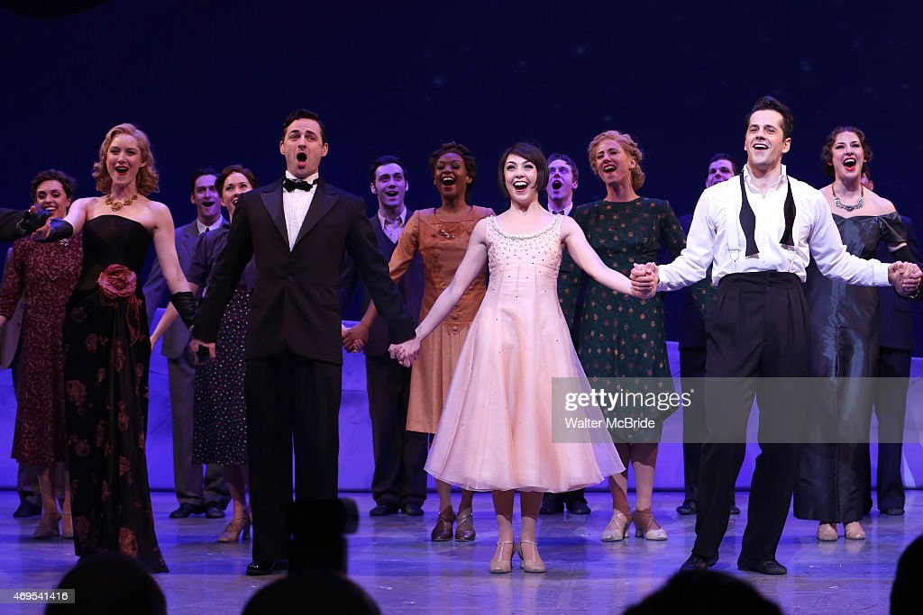Jill Paice, Max von Essen, Leanne Cope and Robert Fairchild during the Broadway Opening Night Curtain Call for 'An American In Paris' at The Palace Theatre on April 12, 2015 in New York City.