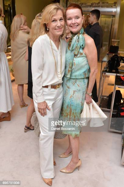 Jill Pollack and Mary EllenConnellan attend Prada Chicago x University Of Chicago Cancer Research Foundation Event at Prada Chicago on June 13 2017...