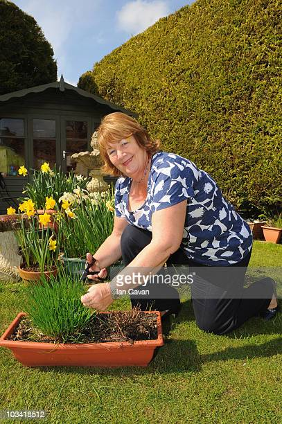 Jill Reeves motherinlaw of Ross Anthony is seen in the garden of the BedandBreakfast 'Little Gables' on April 15 2010 in Wallingford England The...