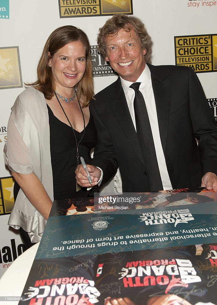 Jill Roberts of the Youths' Dance Porgram and Nigel Lythgoe attend Critics' Choice Television Awards VIP Lounge on June 10, 2013 in Los Angeles, California.