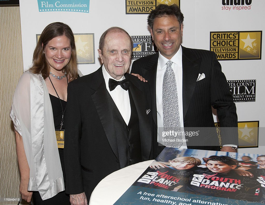 Jill Roberts of the Youths' Dance Porgram, Bob Newhart and President of Thalo Steven Roth attend Critics' Choice Television Awards VIP Lounge on June 10, 2013 in Los Angeles, California.