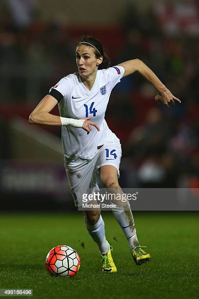 Jill Scott of England during the UEFA Women's Euro 2017 Qualifier match between England and Bosnia and Herzegovina at Ashton Gate on November 29 2015...