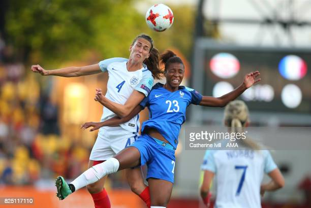 Jill Scott of England Women and Grace Geyoro of France Women during the UEFA Women's Euro 2017 match between England and France at Stadion De...