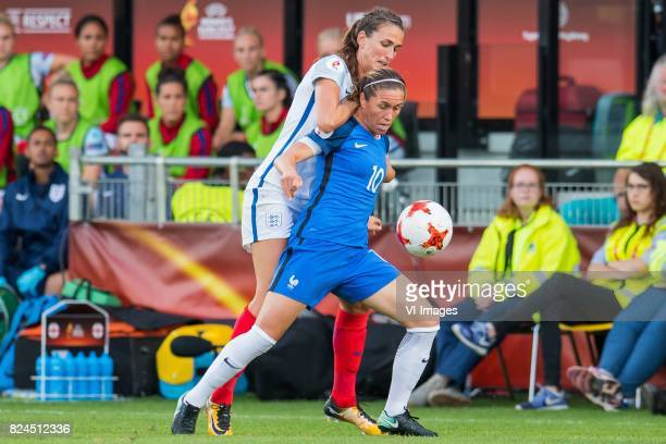 Jill Scott of England women Camille Abily of France women during the UEFA WEURO 2017 quarter finale match between England and France at The...