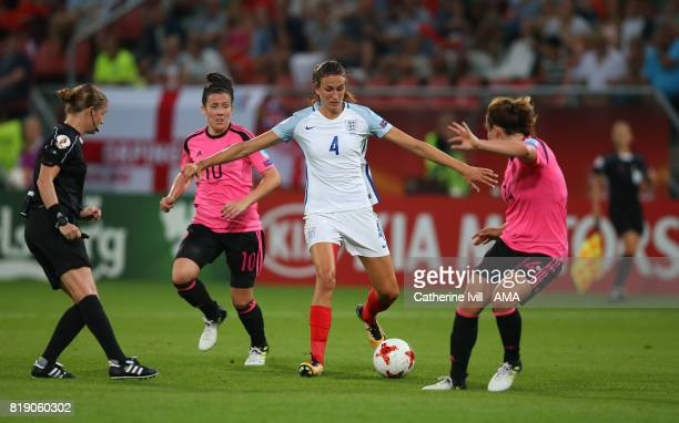 Jill Scott of England Women in action during the UEFA Women's Euro 2017 match between England and Scotland at Stadion Galgenwaard on July 19 2017 in...