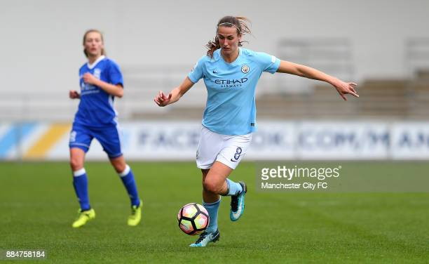 Jill Scott of Manchester City Women controls the ball during the FA WSL Continental Tyres Cup between Manchester City Women and Birmingham City...