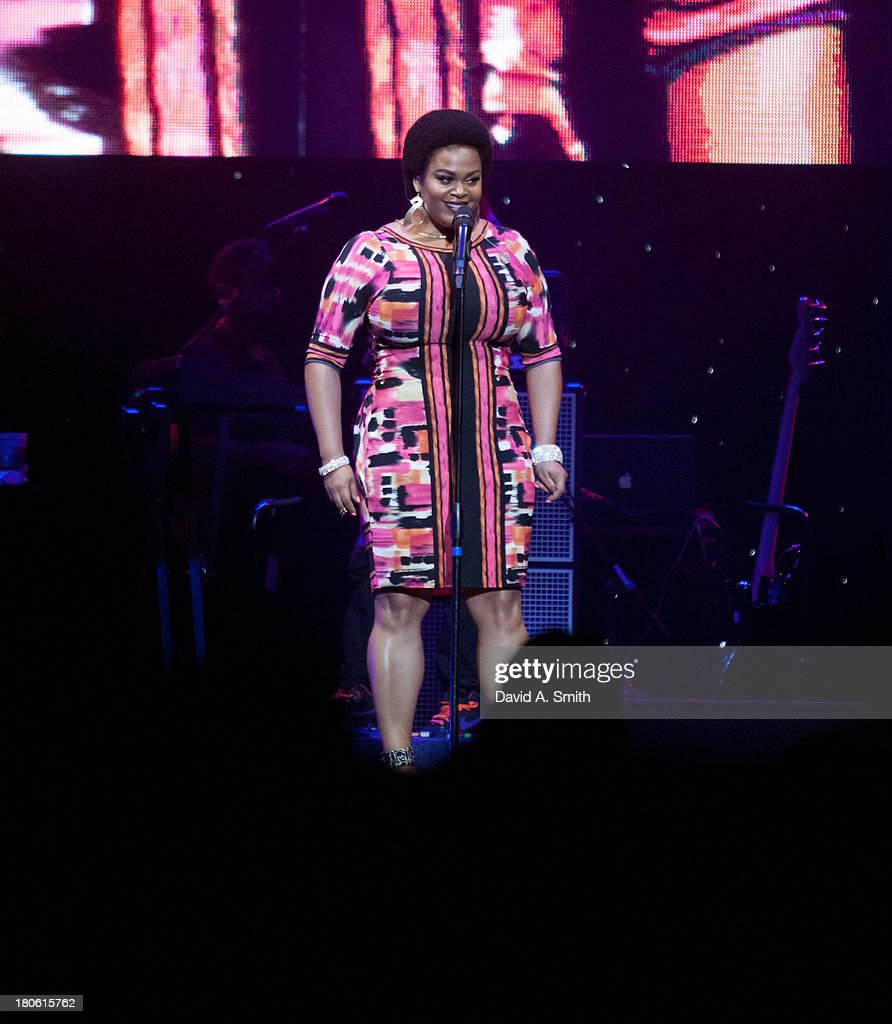 Jill Scott performs at BBVA Compass Concert For Human Rights Hosted By Jamie Foxx at The Birmingham Jefferson Convention Center on September 14, 2013 in Birmingham, Alabama.