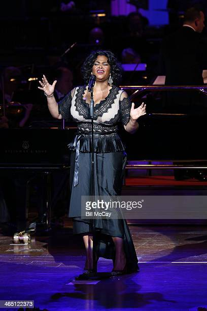 Jill Scott performs at the Academy Of Music 157th Anniversary Concert January 25 2014 at the Academy of Music in Philadelphia Pa