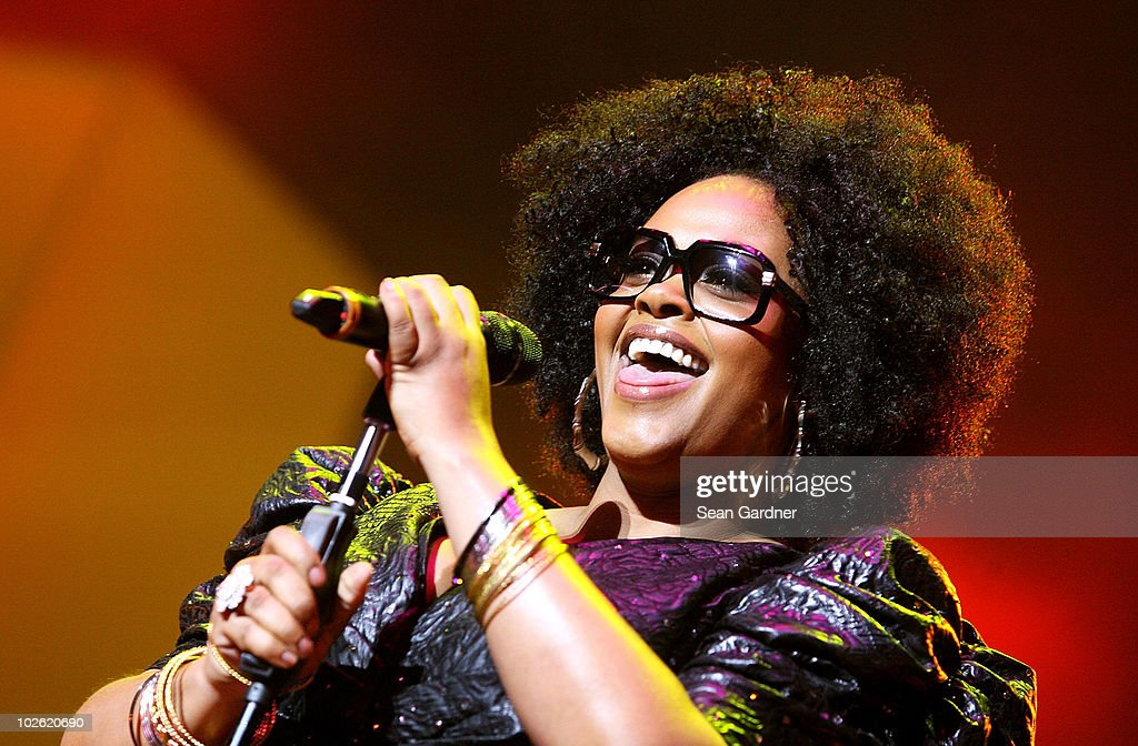 Jill Scott performs during the 2010 Essence Music Festival at the Louisiana Superdome on July 4 2010 in New Orleans Louisiana