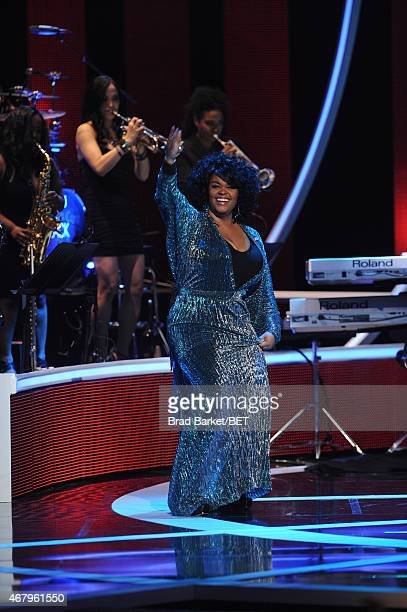 Jill Scott performs on 'Black Girls Rock' BET Special at NJPAC – Prudential Hall on March 28 2015 in Newark New Jersey