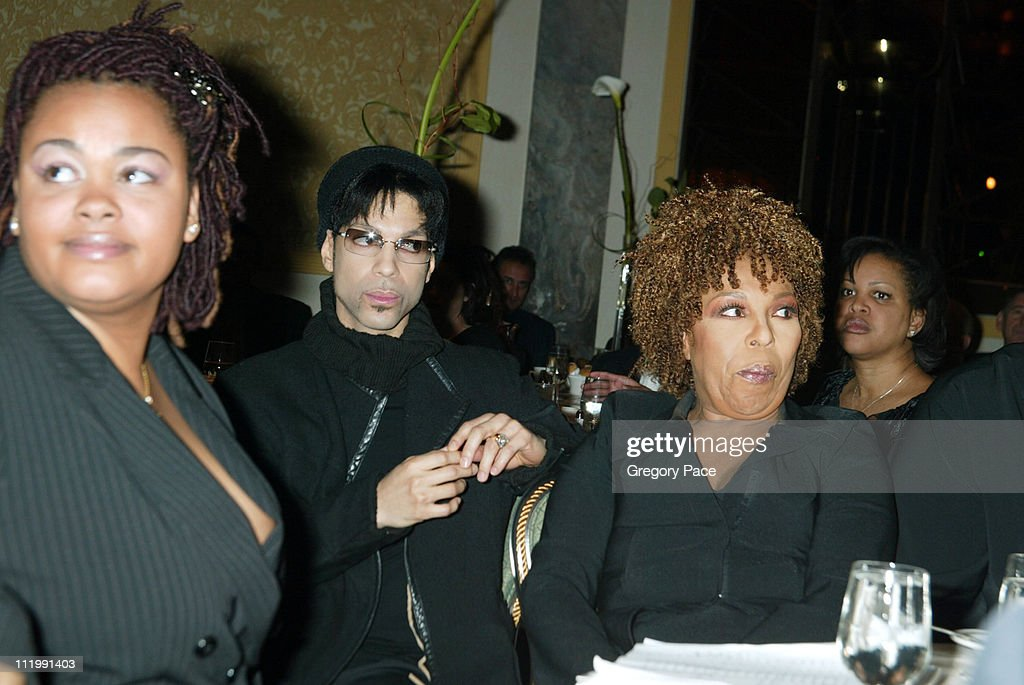 Jill Scott, Prince And Roberta Flack during Artist Empowerment Coalition Luncheon Honoring the Nominees of the 45 Annual Grammy Awards at New York Hilton Hotel in New York, NY, United States.
