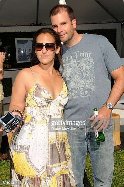 Jill Sieracki and Michael Bukowski attend TMOBILE SIDEKICK Lounge at MercedesBenz Polo Challenge at Two Trees Farm on August 16 2008 in Bridgehampton...