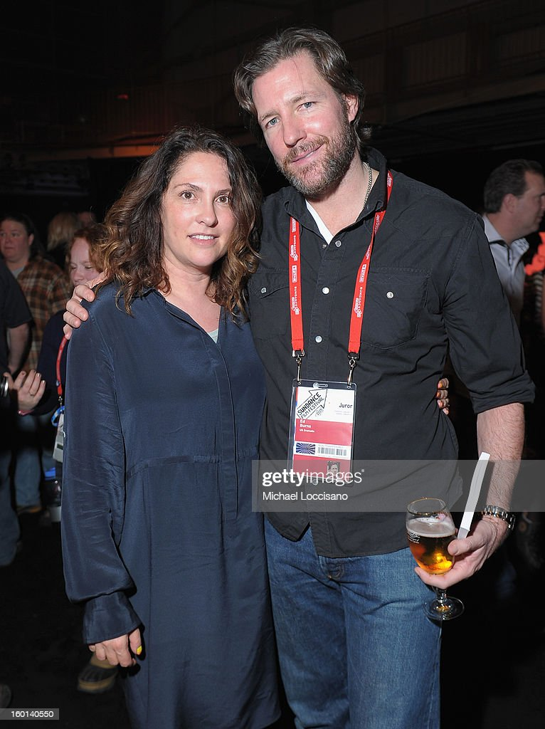 Jill Soloway and Ed Burns attend the Awards Night Party during the 2013 Sundance Film Festival at Basin Recreation Field House on January 26, 2013 in Park City, Utah.