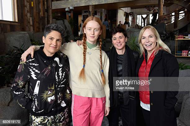 Jill Soloway India Menuez Kimberly Peirce and Marti Noxon attend Lunch Celebrating Films Powered By Women Hosted By Glamour's Cindi Leive And...