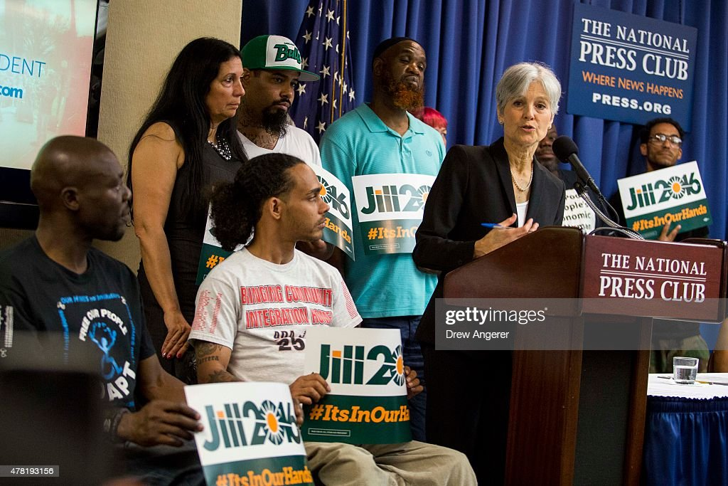 Jill Stein announces that she will seek the Green Party's presidential nomination, at the National Press Club, June 23, 2015 in Washington, DC. Stein also ran for president in 2012 on the Green Party ticket.