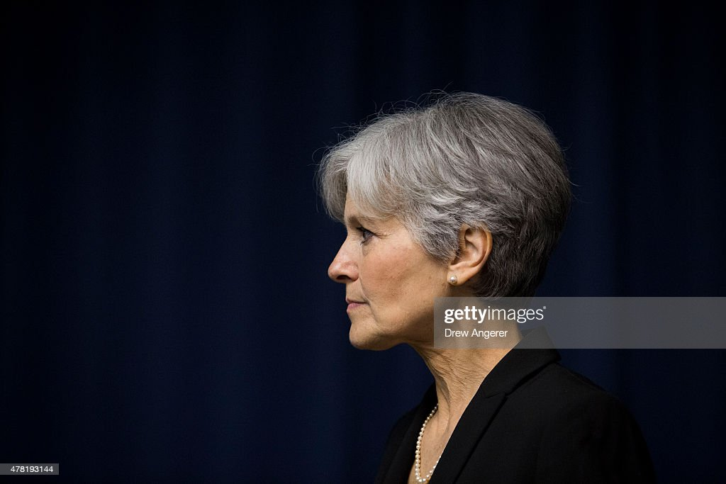 Jill Stein is seen after she announced that she will seek the Green Party's presidential nomination, at the National Press Club, June 23, 2015 in Washington, DC. Stein also ran for president in 2012 on the Green Party ticket.