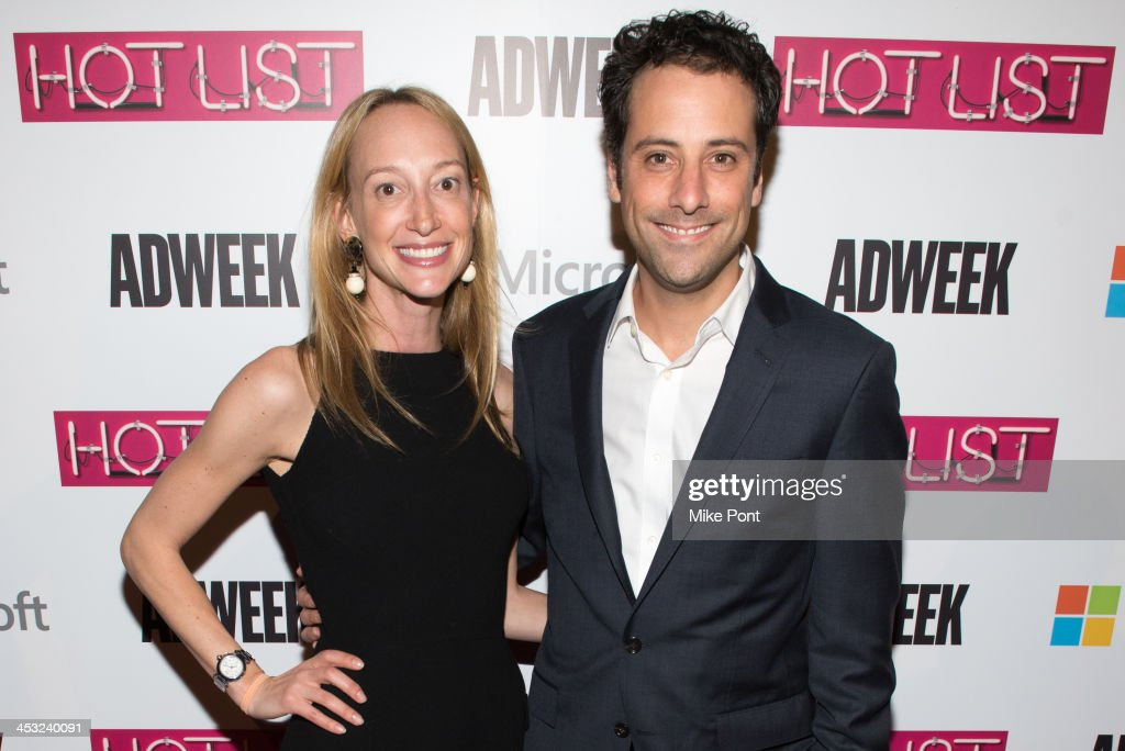Jill Steinberg (L) and BuzzFeed President & COO Jon Steinberg attend the 2013 Adweek Hot List Gala at Capitale on December 2, 2013 in New York City.