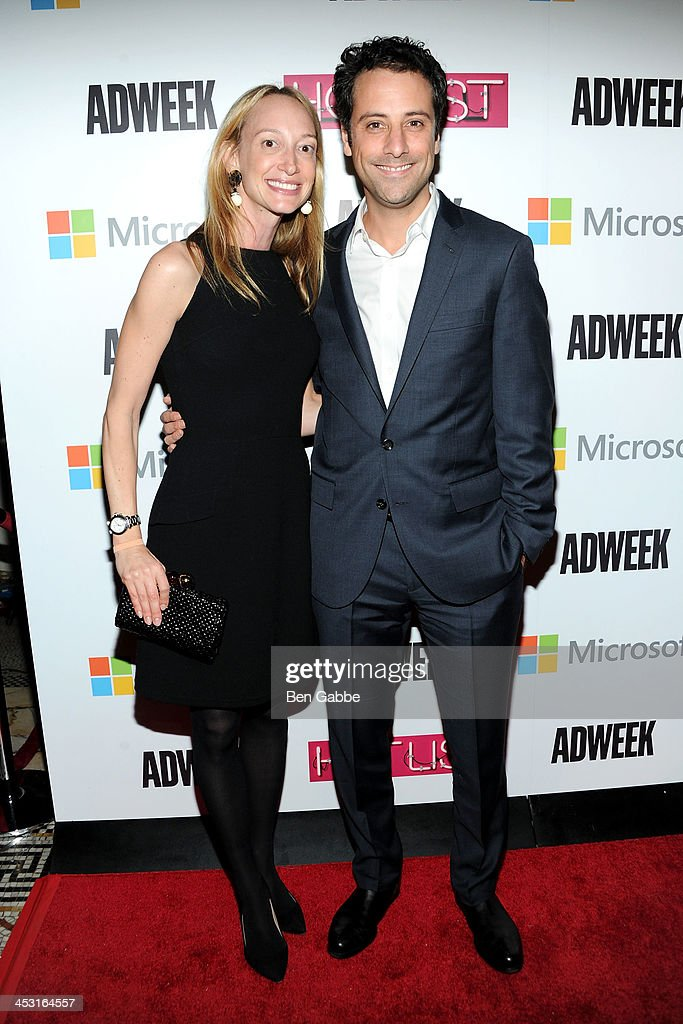 Jill Steinberg (L) and president & COO of BuzzFeed Jon Steinberg attend the 2013 Adweek Hot List gala at Capitale on December 2, 2013 in New York City.