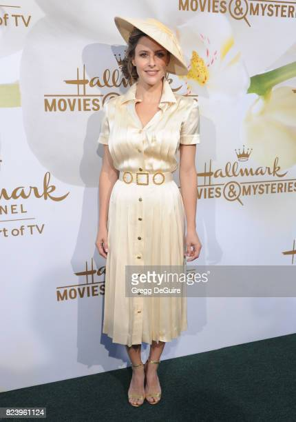 Jill Wagner arrives at the 2017 Summer TCA Tour Hallmark Channel And Hallmark Movies And Mysteries at a private residence on July 27 2017 in Beverly...