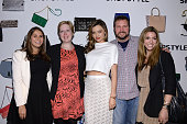 Jill Weinstein Kelley Train Miranda Kerr Ron Blevins and Jaimie Sparber attend the launch of We Search We Find We ShopStyle on February 3 2014 in New...