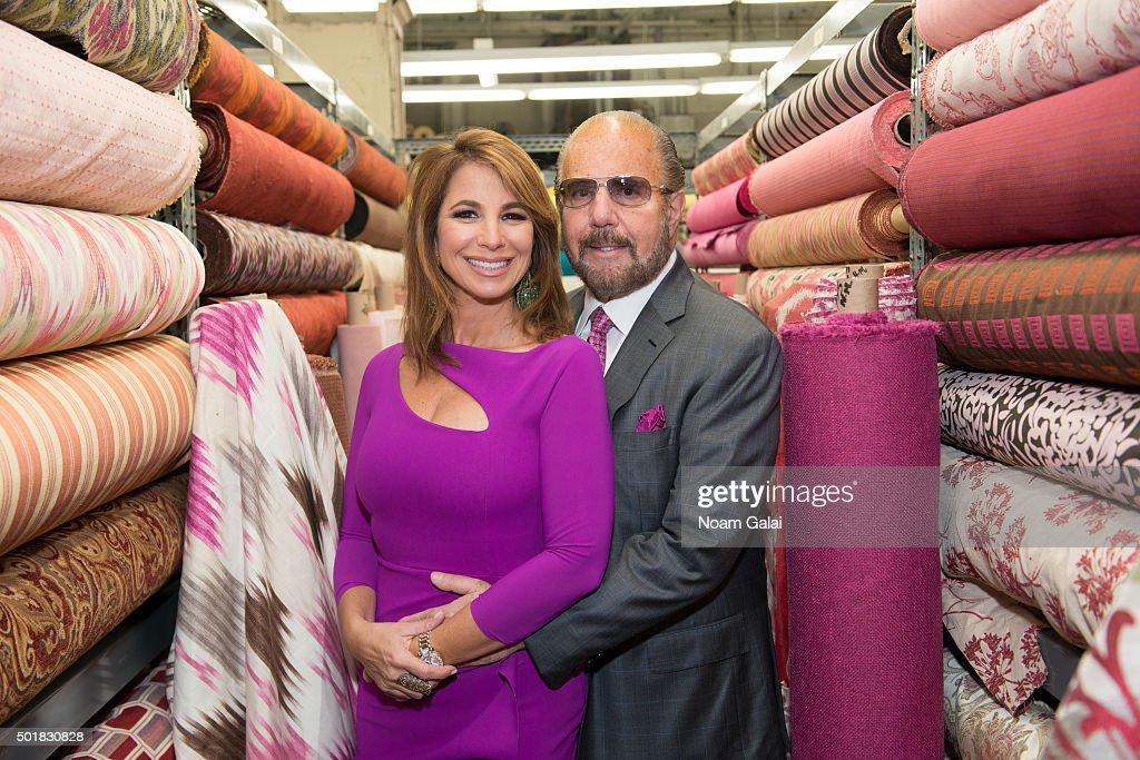 Jill Zarin and Bobby Zarin attend the 2015 Zarin Fabrics' holiday party at Zarin Fabrics on December 17, 2015 in New York City.