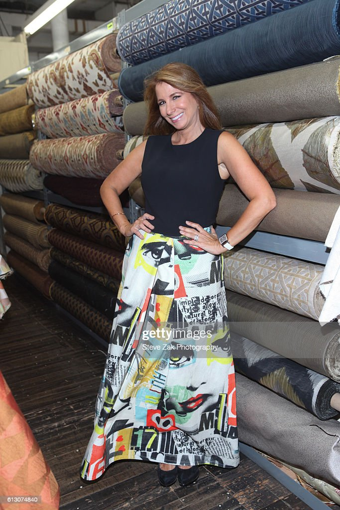 Jill Zarin attends Zarin Fabric's 80th Anniversary at Zarin Fabrics on October 6, 2016 in New York City.