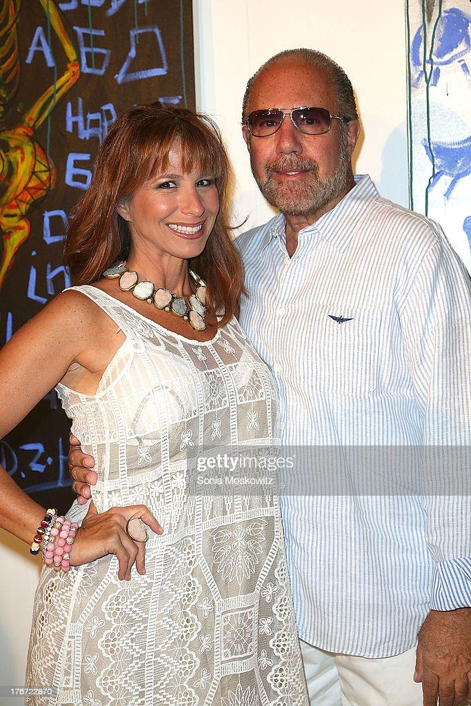 Jill Zarub and Bobby Zarin attend Domingo Zapata's A Contemporary Salon event on August 17, 2013 in Watermill, New York.