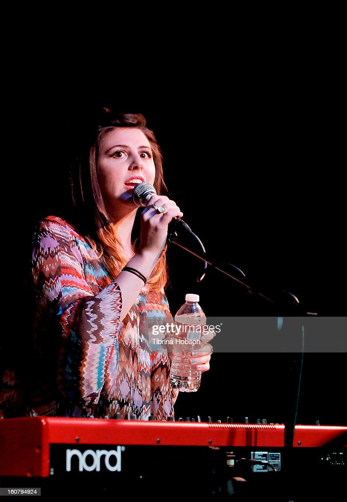 Jillette Johnson performs at the Hotel Cafe on February 5, 2013 in Hollywood, California.