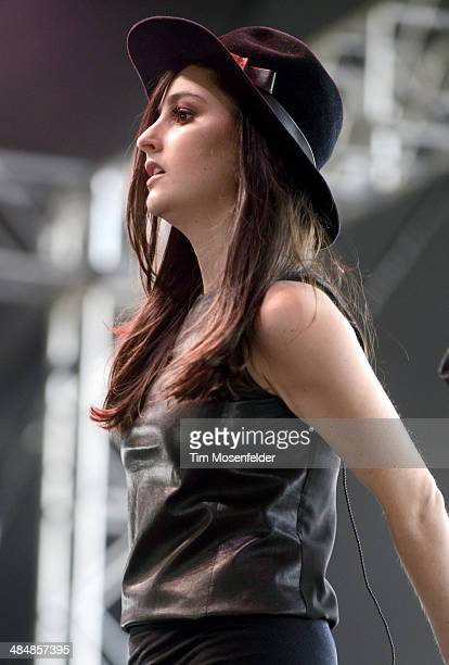 Jillian Banks aka Banks performs as part of the Coachella Valley Music and Arts Festival at The Empire Polo Club on April 12 2014 in Indio California