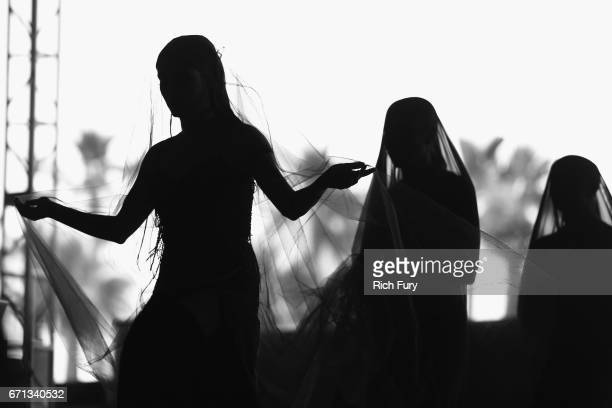 Jillian Banks aka Banks performs at the Gobi Tent during day 1 of the 2017 Coachella Valley Music Arts Festival at the Empire Polo Club on April 21...