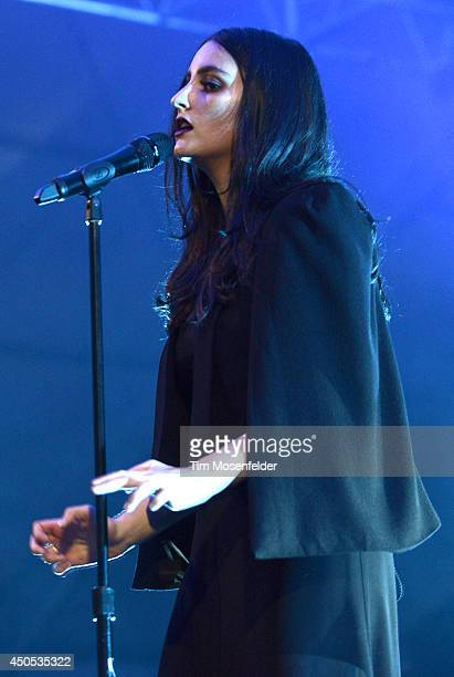 Jillian Banks aka Banks performs during the 2014 Bonnaroo Music Arts Festival on June 12 2014 in Manchester Tennessee