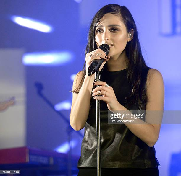 Jillian Banks aka Banks performs during the Saquatch Music Festival at the Gorge Amphitheater on May 25 2014 in George Washington