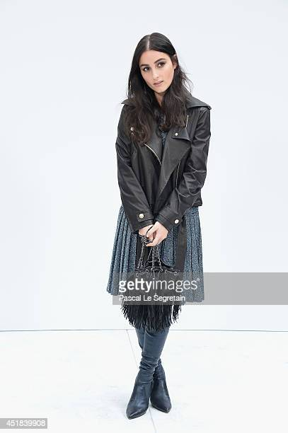 Jillian Banks attends the Chanel show as part of Paris Fashion Week Haute Couture Fall/Winter 20142015 at Grand Palais on July 8 2014 in Paris France