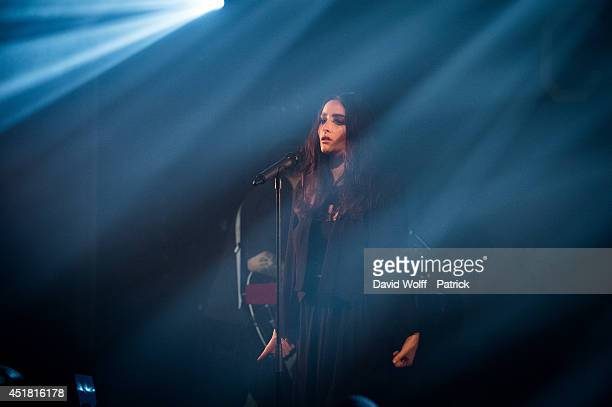 Jillian Banks from Banks performs at Nouveau Casino on July 7 2014 in Paris France