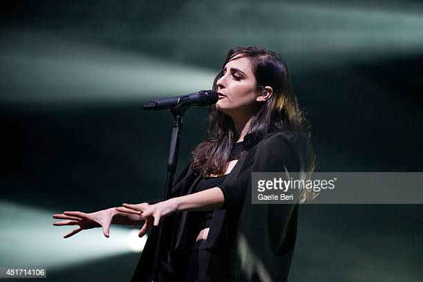 Jillian Banks of Banks performs on stage at Open'er Festival at Gdynia Kosakowo Airport on July 4 2014 in Gdynia Poland