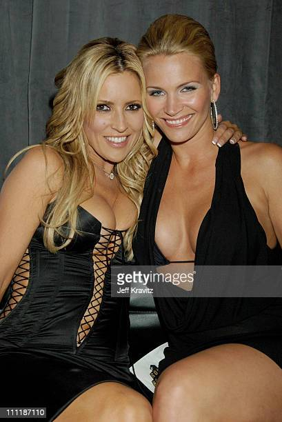 Jillian Barberie and Natasha Henstridge during 2006 VH1 Rock Honors Backstage and Audience at Mandalay Bay Hotel and Casino in Las Vegas Nevada...
