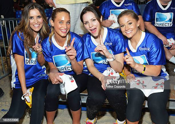 Jillian Barberie Hannah Davis Katharine McPhee and Shawn Johnson attend DIRECTV'S Seventh Annual Celebrity Beach Bowl at DTV SuperFan Stadium at...